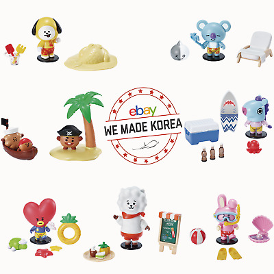BTS BT21 Collectible RANDOM Figure Blind Pack Summer Vacation Theme Limited MD