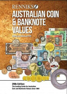 Renniks Australian Coin & Banknote Values 29th Edition Posted soft cover