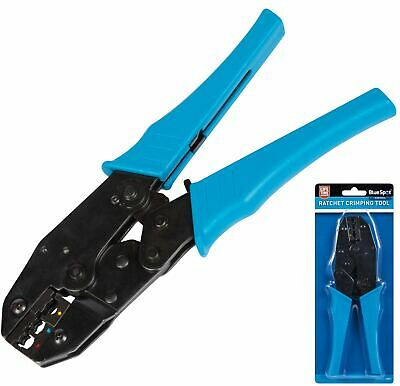 BlueSpot Ratchet Crimper Cable Wire Terminals Electrical Plier Crimping Tool