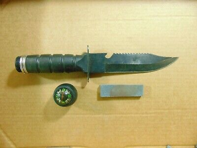 U.S. Military Style Survival Knife  Compass Made in Taiwan Hunting Fishing Etc.