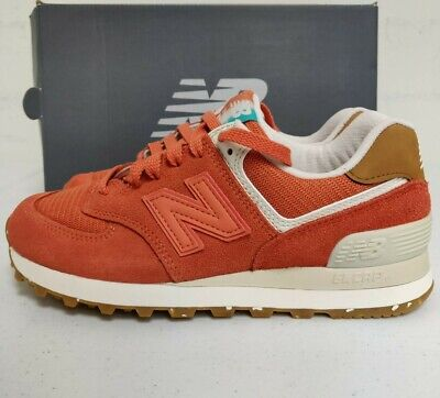 NEW BALANCE 574 Womens Sneakers Global Surf Orange