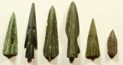 LOT OF 6 Ancient Greek Scythian Arrow Heads Bronze 5th c BC