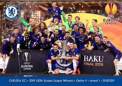 Chelsea Europa league Champions poster - A3 - 420mm x 297mm NEW