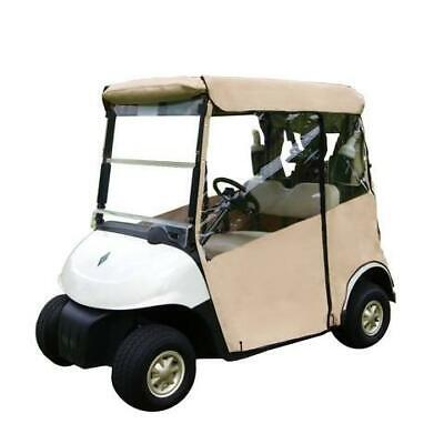 Golf Buggy Enclosure Cover 3 Sided (TAN) Club Car DS (2000+) - STRAIGHTBACK