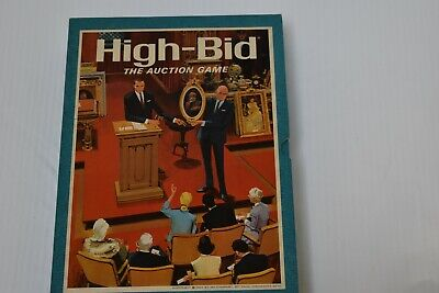 Vintage High-Bid 1965 Auction Board Game By 3M Bookshelf Games