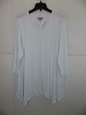 75c28a4eaa5 JM COLLECTION WOMAN Size 1X Navy & White 3/4 Sleeve Tunic - $8.20 ...