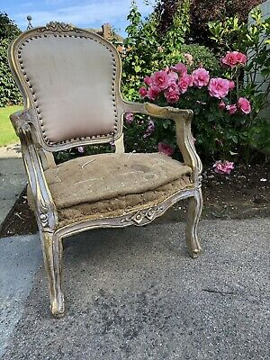 Lovely antique 1920s french louis XV style fauteuil armchair
