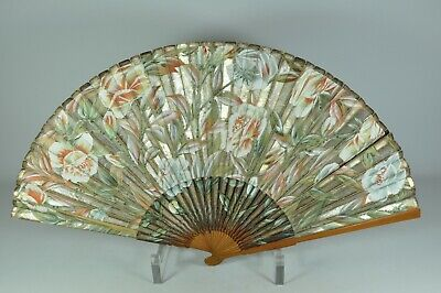 #3-12 Fine Old Chinese Japanese Hand Fan Scholar Art