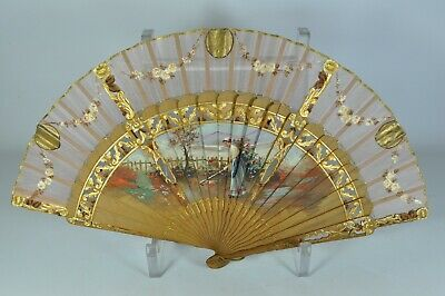 #1-7 Fine Old Victorian Hand Fan Scholar Art