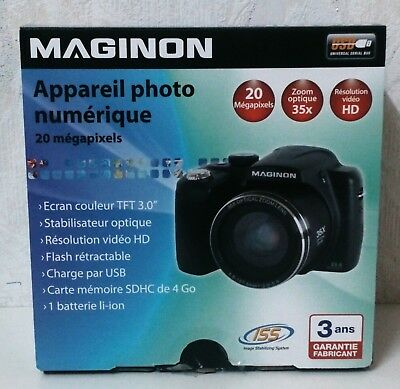 "Digitalkamera 20 MP Maginon SZ-350, 3,0"" TFT, 35X Zoom Digital NEU OVP"