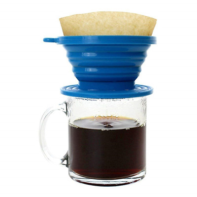 Wolecok Silicone Collapsible Coffee Filter Cone,Food Grade Coffee Dripper, for