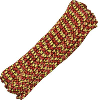 Paracord 100 ft Atwood Rope MFG MADE IN USA Parachute Cord Force Field RG1254H