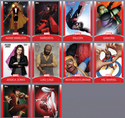 2019 LEGACY SERIES 2 COMPLETE SET OF 10 CARDS Marvel Collect Digital Card