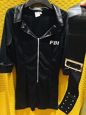 32639b280c Ladies Fever SWAT Costume Adult FBI Police Fancy Dress Womens Cop Uniform  Outfit