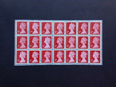 21 1st Class 2018 Unfranked  Security Stamps Self Adhesive Easy Peel