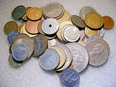 NEW//OLD COINS! MIX OF 12 笨展OW 笨� *WORLD//FOREIGN//U.S.?*COIN LOT
