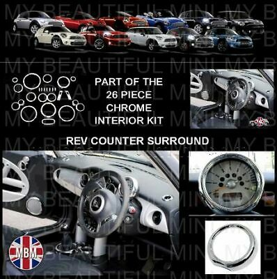BMW MINI Mk1 Cooper/S/ONE R50 R52 R53 CHROME REV COUNTER SURROUND