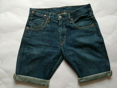 2b14dd4562 Womens LEVIS Denim Shorts W33 Size 12-14 Casual Mid Wash Blue Knee Length  VGC