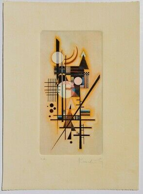 WASSILY KANDINSKY Etching hand signed