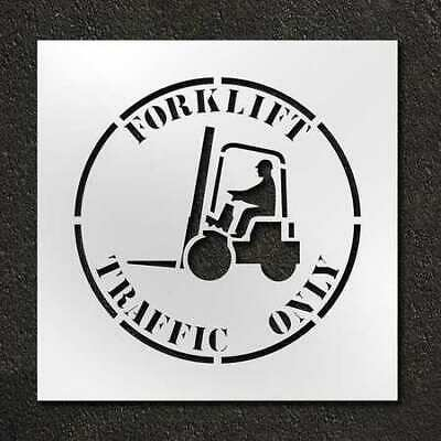 RAE STL-116-12412 Stencil,Forklift Traffic Only ,24 in