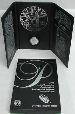 2012 W PLATINUM $100 PROOF AMERICAN EAGLEi IN CAPSUL  BOX & COA