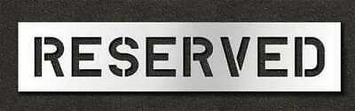 RAE STL-116-70833 Pavement Stencil,Reserved,8 in