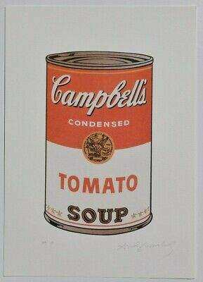 ANDY WARHOL Lithograph hand signed