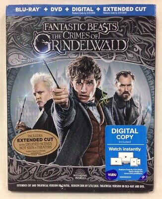 Fantastic Beasts The Crimes Of Grindelwald BluRay+DVD+Digital EC W/ Slipcover