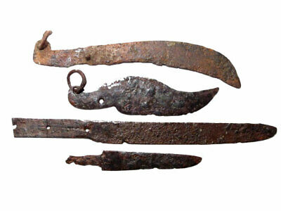 Lot Of 4Pcs.. Roman Period Iron Knives, Top Condition, Good Condition+++