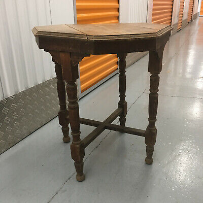 Vintage / Antique Octagonal Side Console Table