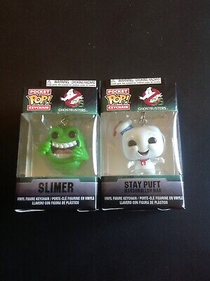 Ghostbusters - Funko Pocket Pop - Slimer And Stay Puft Marshmallow Man