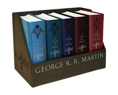 GAME OF THRONES  LEATHER BOUND EDITIONS BOXED SET Books 1-5 (1101965487)