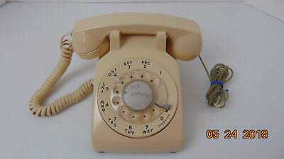 Vintage Beige Western Electric Bell System Rotary Dial Telephone Phone 500 cream