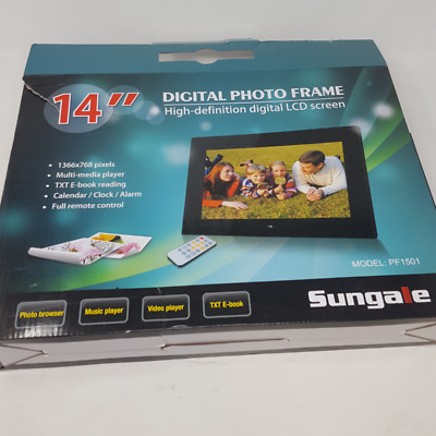 """Sungale PF1501 14"""" Digital Photo Frame with Hi-resolution Screen"""