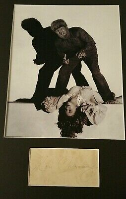 Lon Chaney Jr. Autograph As The Wolfman Original Signature