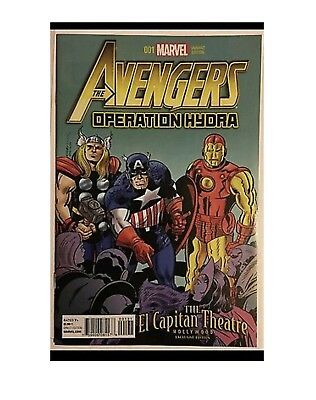 Avengers Operation Hydra 1 Giveaway Promo El Capitan Movie Theater Variant Rare