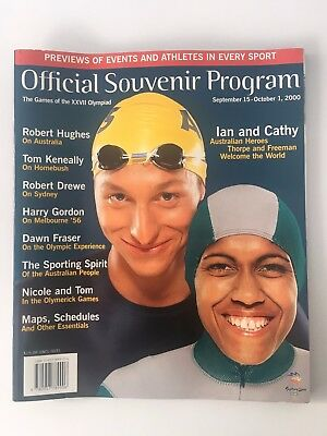 Sydney 2000 Olympic Games Official Souvenir Program Mint Condition