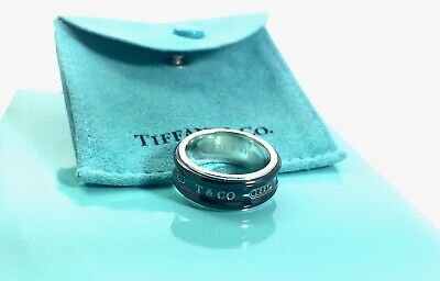 5c3b7e21c Tiffany & Co Sterling Silver Titanium 1837 Concave Band Ring Size 5.75  190611B