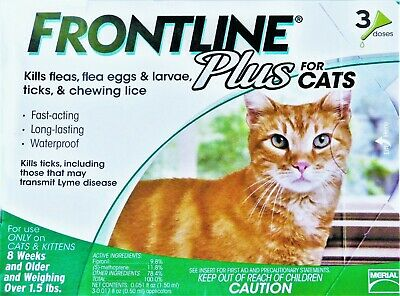 FRONTLINE plus for CATS up to 8 Weeks and Older (3) Doses
