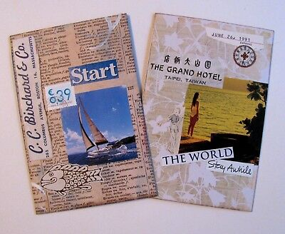 Handmade Notebook Junk Journal Blank Book Collage Covers Lot of 2 B