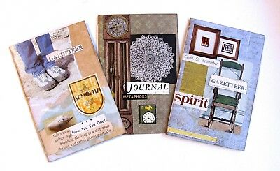 Handmade Notebook Junk Journal Blank Book Collage Covers Lot of 3