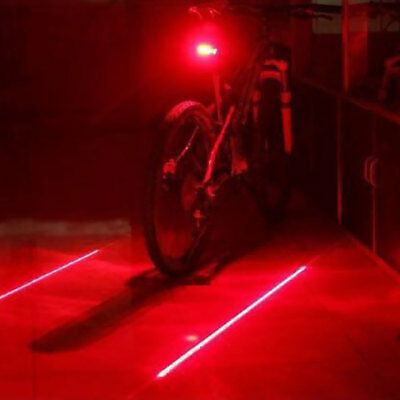 Bike Tail BACK STOP Light Red LED Safety Flashing Cycle Rear Back Lamp LAC