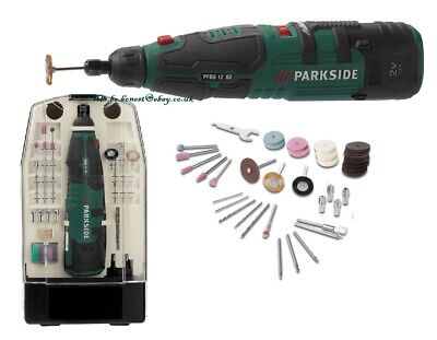 Parkside 12V Cordless Rotary Multi Tool Precision Drill+ Dremel Type Accessories
