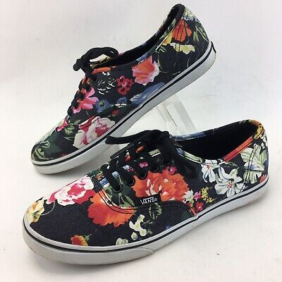 f95cb4a1fa60 VANS Lo Pro Canvas Lace Up Skate Shoes Sneakers TB9C Womens Size 7 Floral