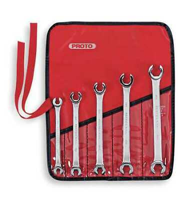 PROTO J3700M 5 Piece Metric Double End Flare Nut Wrench Set - 6 Point