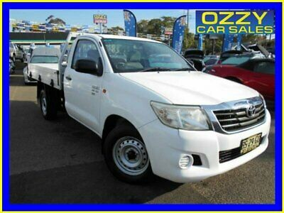 2012 Toyota Hilux GGN15R MY12 SR Glacier White Automatic 5sp A Cab Chassis