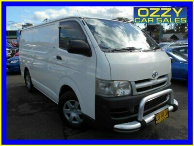 2007 Toyota HiAce KDH201R MY07 LWB White Manual 5sp M Van