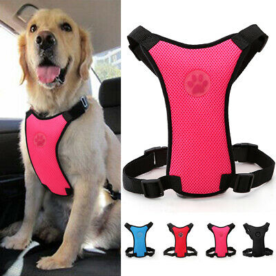Breathable Air Mesh Pet Cat Dog Car Harness Seatbelt Clip Safety for Travel XS-L