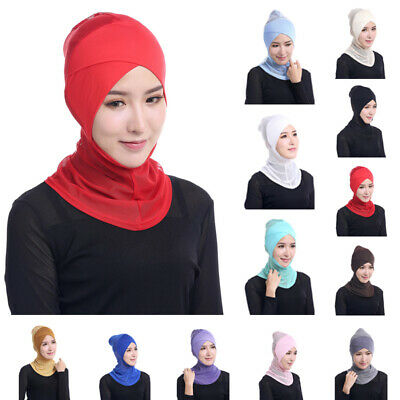Head-wear Inner-cap Head Cover Islamic Soft Neck Stretchy Hat Wrap Mode Nagelneu