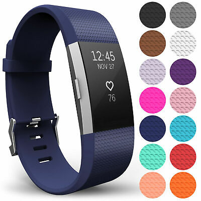 Replacement Silicone Strap for FitBit Charge 2 Sports Wristband Bracelet Band UK